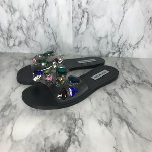 7a76e105863 Steve Madden Rosalyn Clear sandals with rhinestone